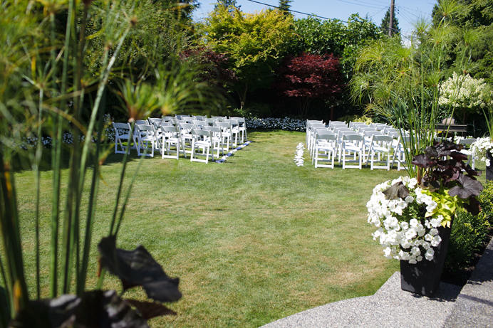 Backyard wedding in North Vancouver