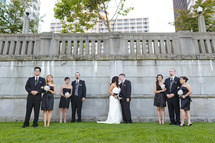 Wedding party at Coal Harbour