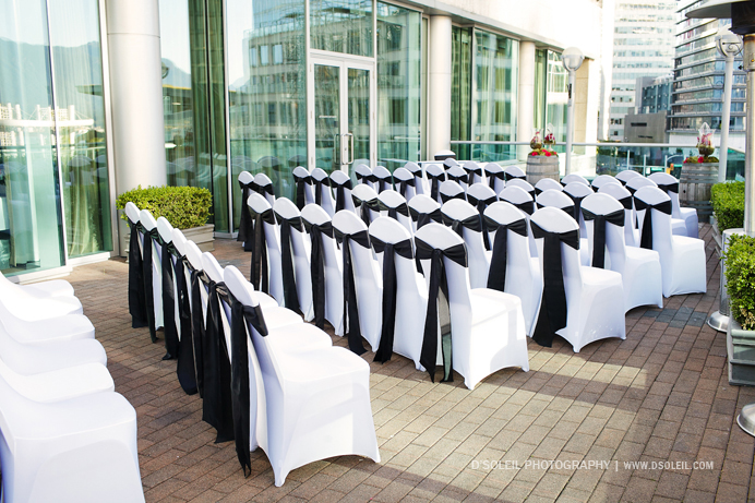 Terminal City Club wedding ceremony outside patio