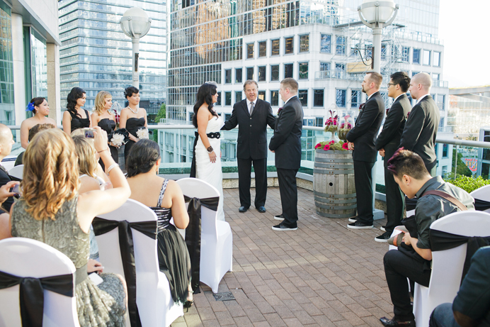 Terminal City Club patio wedding ceremony