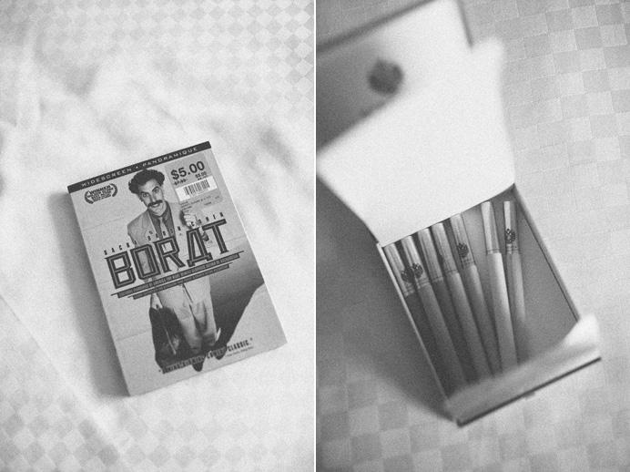 borat dvd and cigarettes