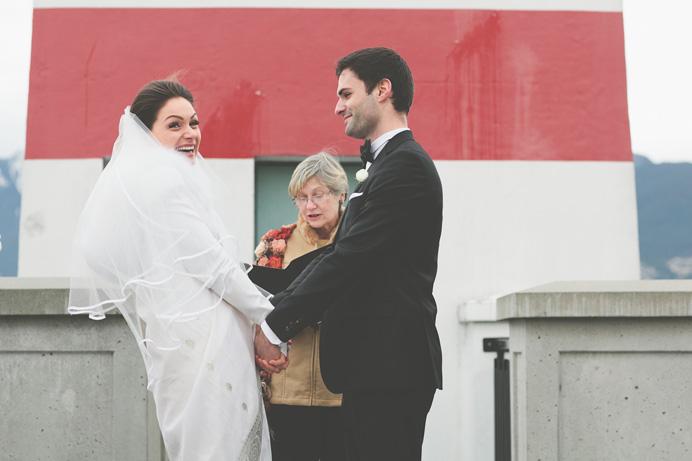 Wedding ceremony Brockton Point Stanley Park