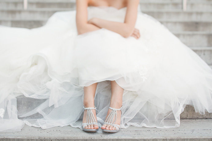 Richmond wedding locations | Bride's shoes