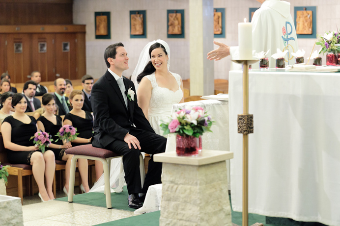 Our Lady of Sorrows Catholic wedding ceremony
