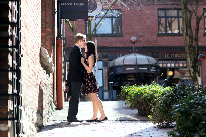 Gastown wedding engagement