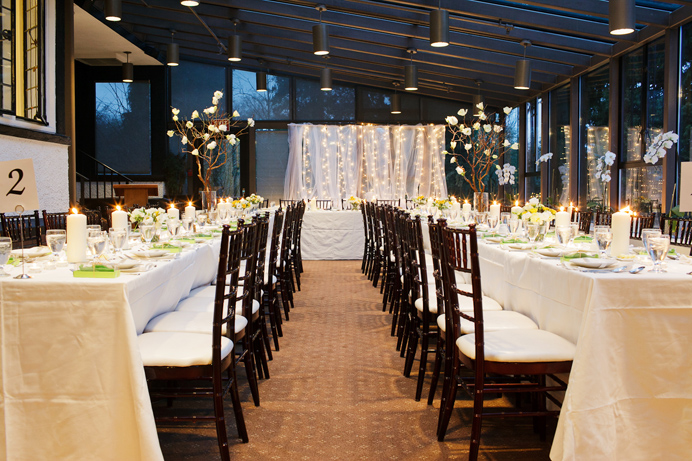 Brock House wedding indoor decor
