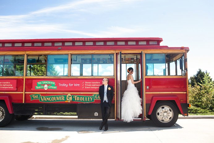 Vancouver Trolley Bus wedding