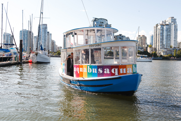 False Creek Aquabus wedding