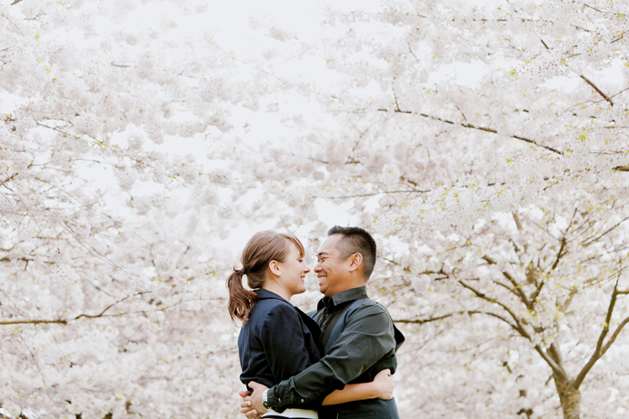 Vancouver cherry blossom engagement session (14)