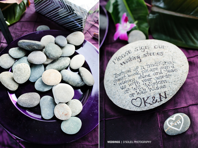 Stones sign in book welcome table idea