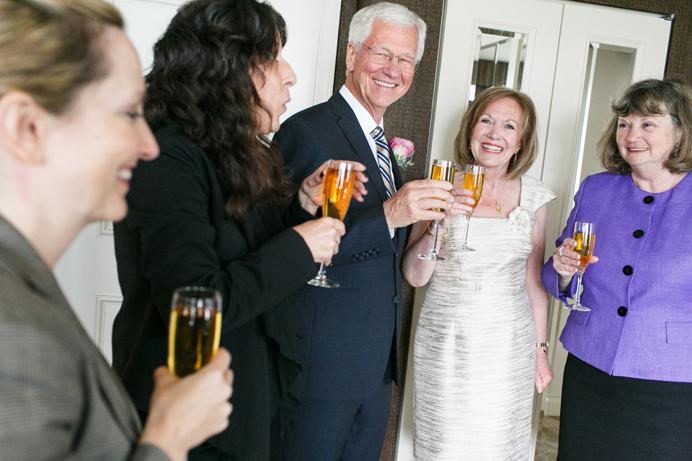 Wedgewood Hotel wedding senior couple