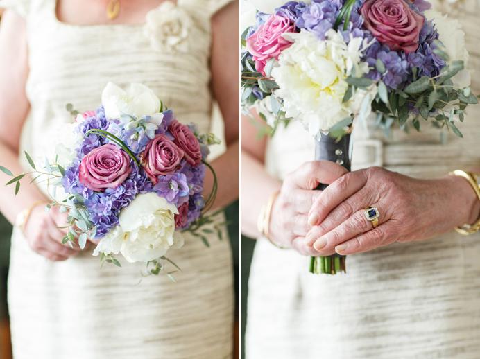 Wedgewood Hotel wedding purple flower bouquet