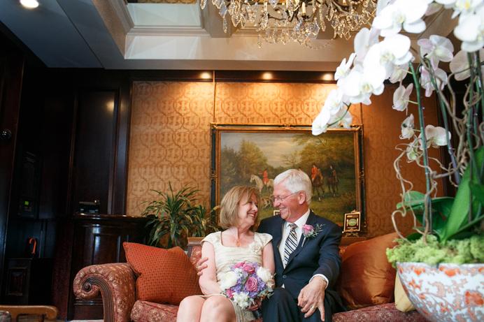 Wedgewood Hotel wedding in lobby