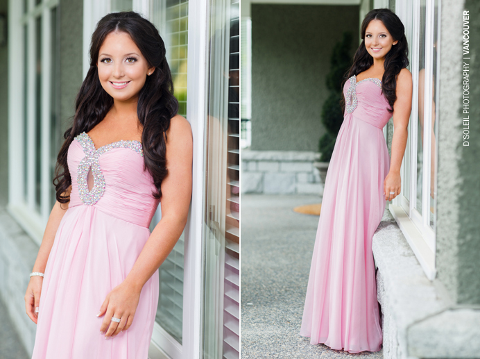 high school pink graduation dress Vancouver
