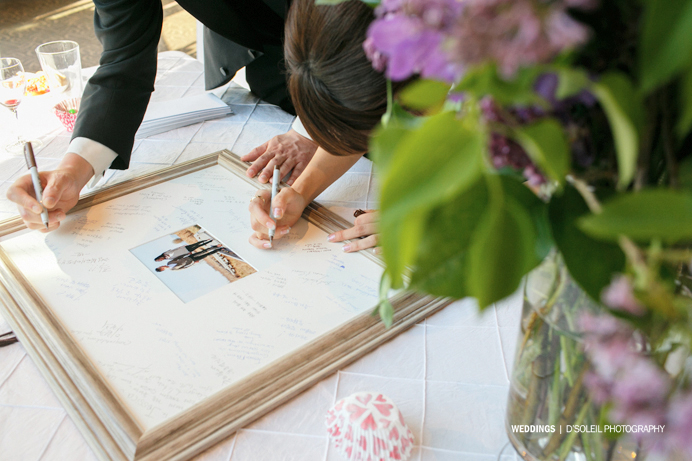 Swan-e-set Bay wedding guestbook picture frame