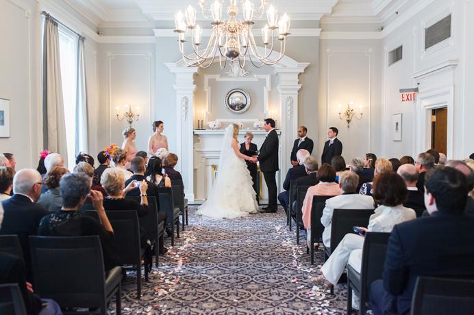 The Vancouver Club wedding ceremony