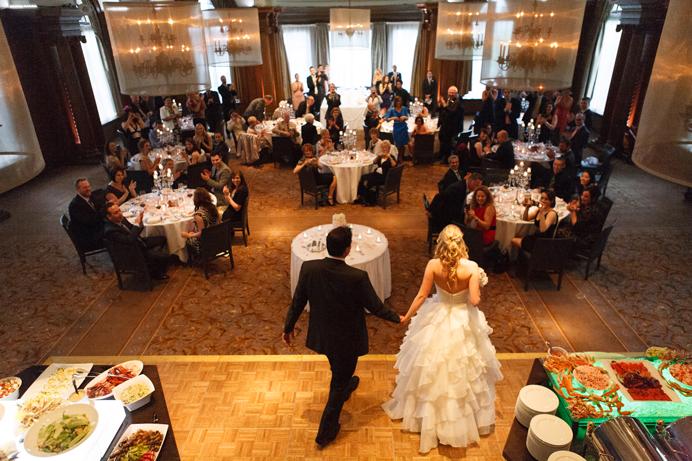 Grand entrance at wedding