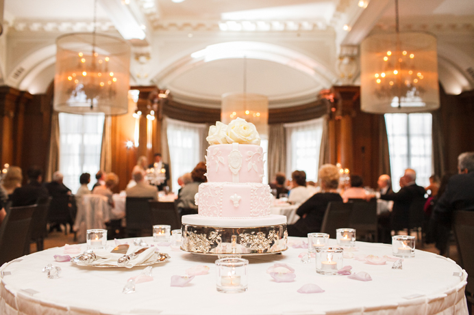 Wedding cake at the Vancouver Club