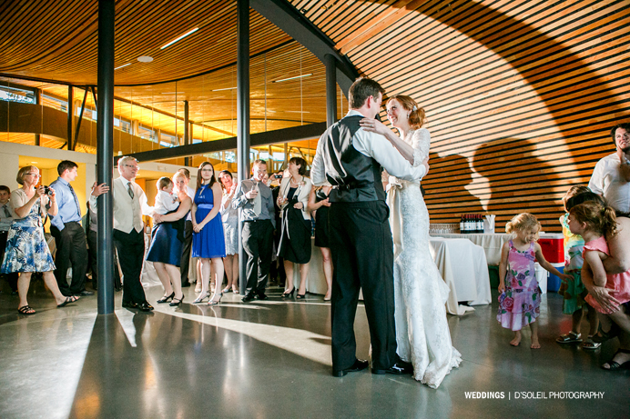 First dance at VanDusen Visitor Centre Hall