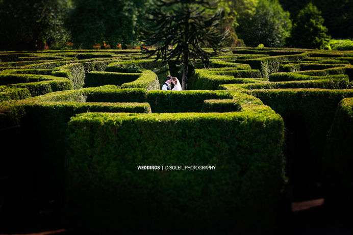 Vandusen Garden Maze wedding photo
