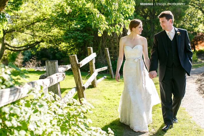 Vandusen Garden wedding stroll