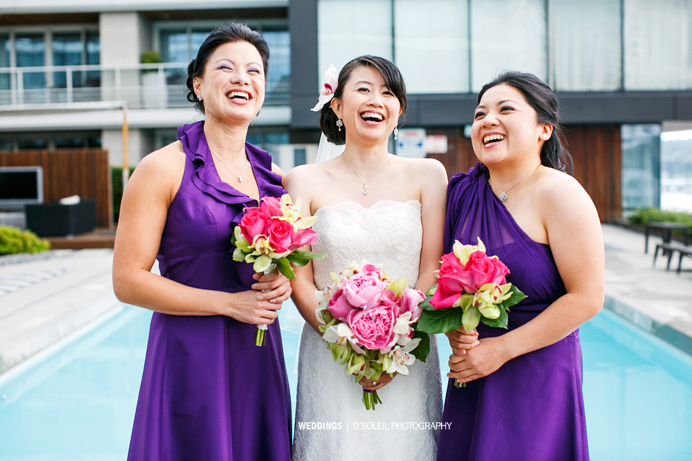 Purple bridesmaid dresses Vancouver