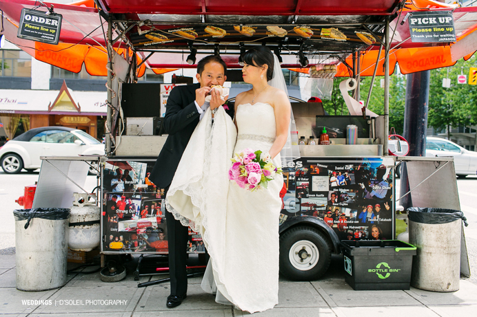 Vancouver food cart wedding