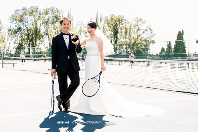 Queen Elizabeth Park wedding tennis