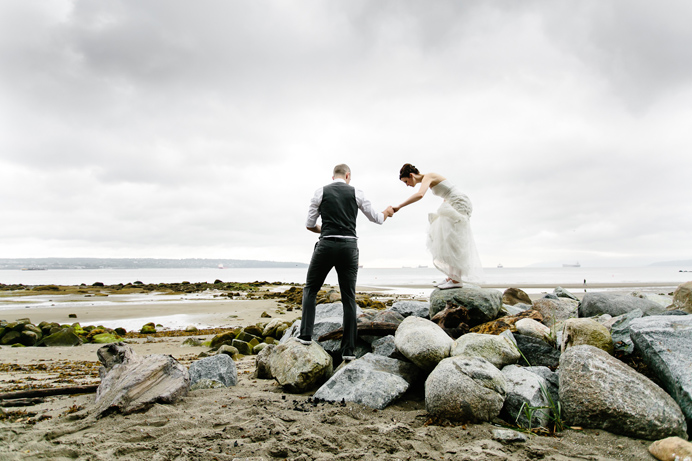 Stanley Park beach wedding