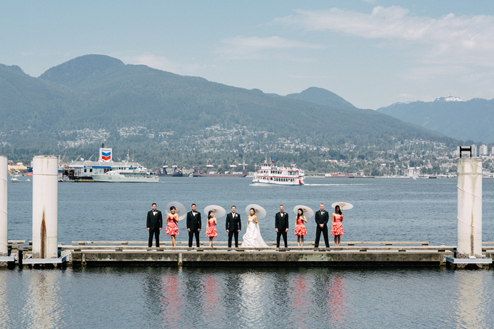 Wedding photos at Coal Harbour Vancouver