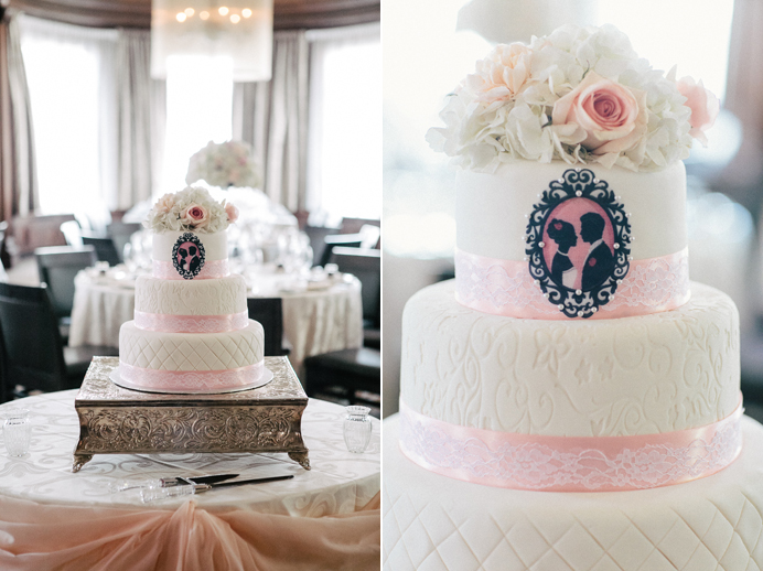 Vancouver pink wedding cakes