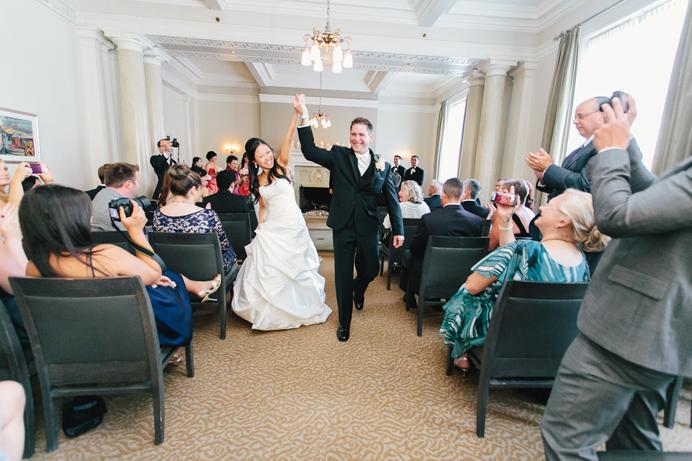 Vancouver Club Wedding ceremony room