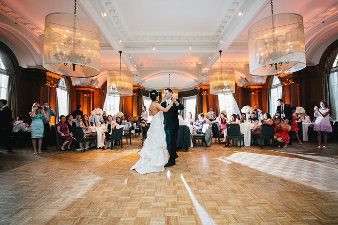 First dance at the Vancouver Club ballroom
