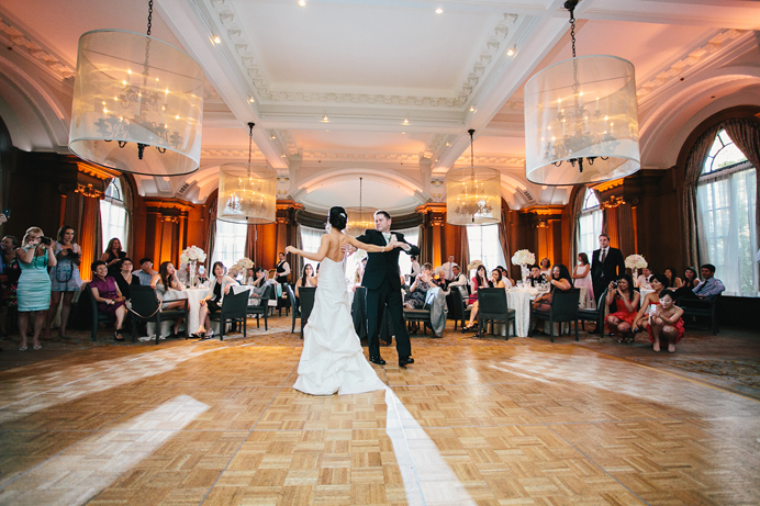 First dance at the Vancouver Club wedding