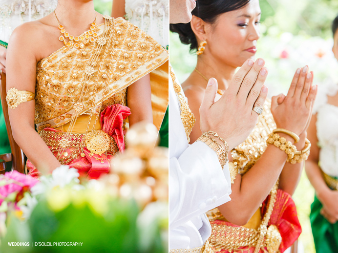 Cambodian bridal dress and jewelry