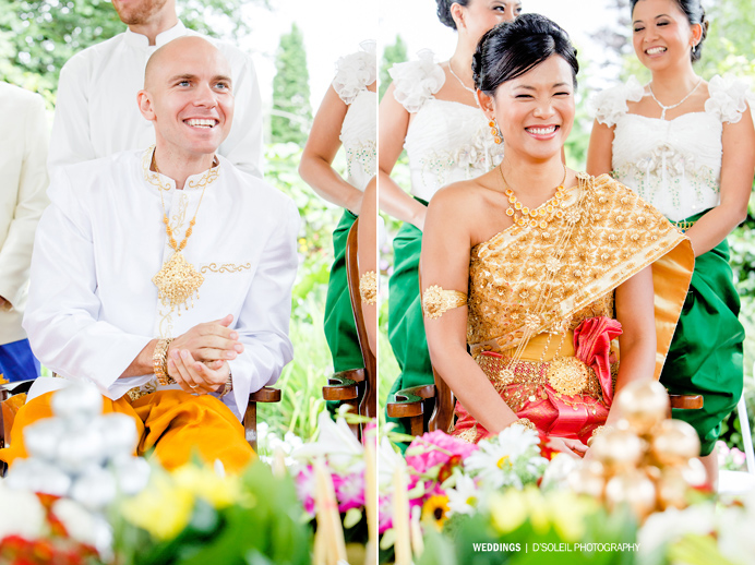 Cambodian wedding bride and groom
