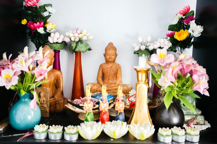 Cambodian altar buddha