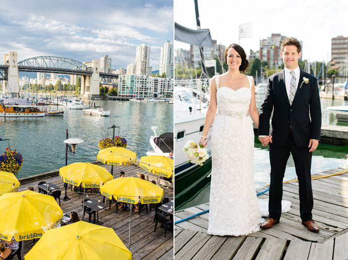 Granville Island wedding at Bridges Restaurant