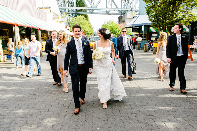Granville Island wedding party