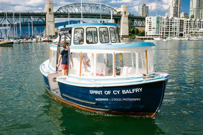 Granville Island wedding ferry