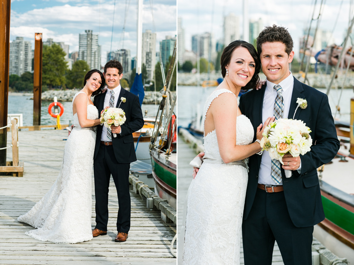 Bride and groom in Vancouver Bridges wedding
