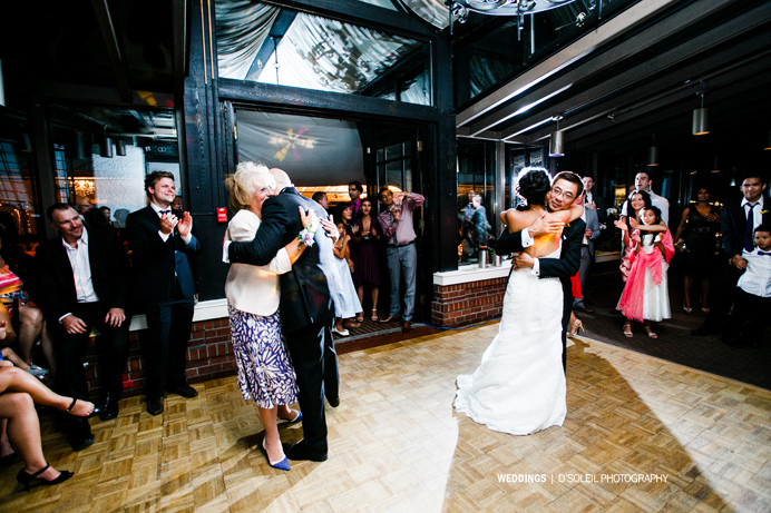 Dancing at Brock House Vancouver wedding