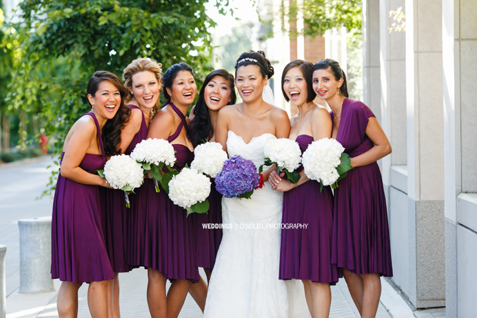 bridal party photos vancouver