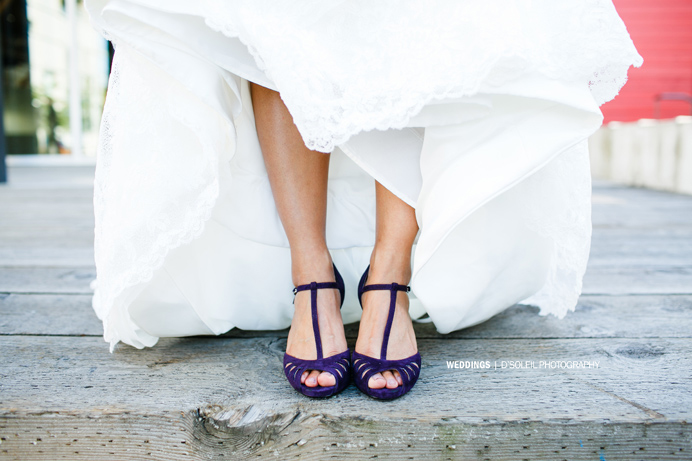 Bridal shoes purple custom