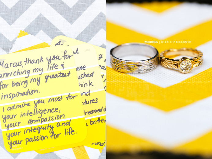 Yellow theme wedding colors
