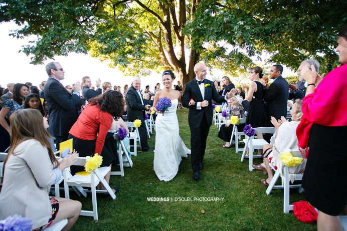 wedding ceremony at Brock House