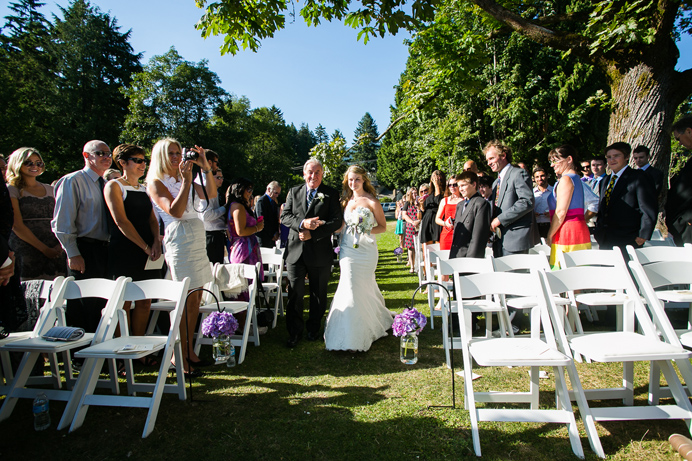 Deep Cove wedding at the park