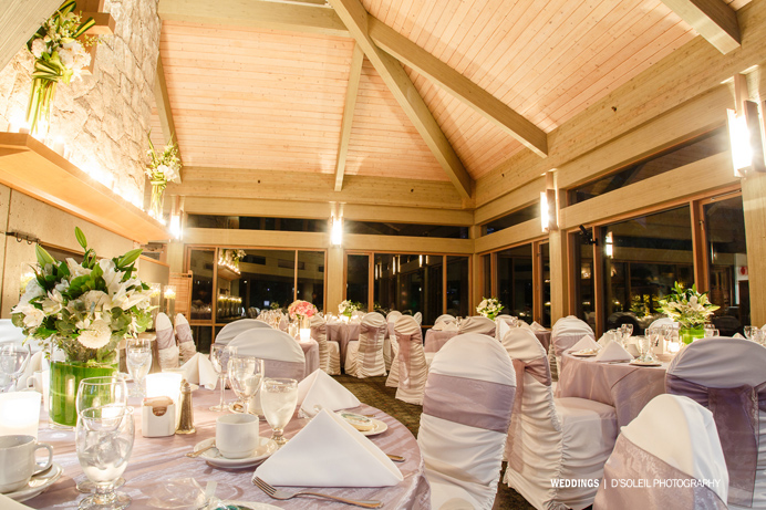 Furry Creek Wedding reception room