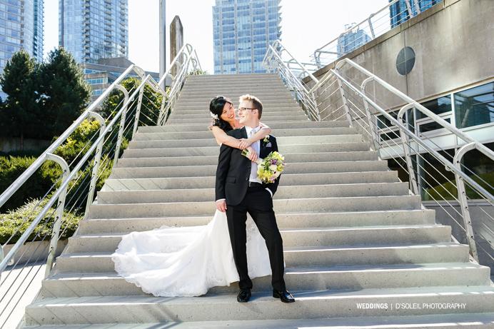 Wedding photos in Coal Harbour