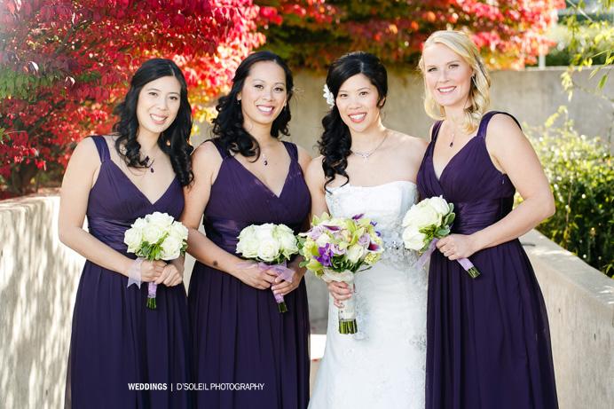 Purple bridesmaid dresses Vancouver